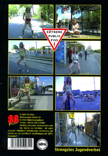 Extreme public piss 31 The movie Picture Back Cover